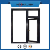 Building Material Aluminium Casement Window with Low-E Glass Safety Windows