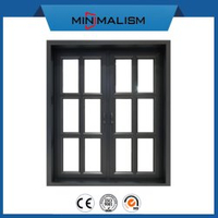Aluminum Casement Window America Style with Bars for House