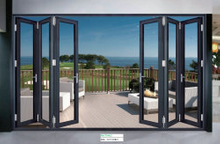 Building Material Aluminium Clear Glass Folding Doors/ Bi-Fold Door