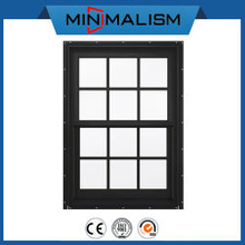 Aluminium Double Hung Slide Window with Spacer Bars for Ventilation